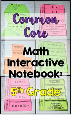 5th Grade Common Core Math Interactive Notebook: All Standards. Over 100 templates included in this huge resource!
