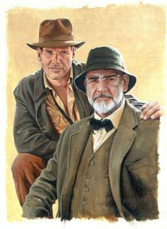 Sean Connery, Harrison Ford by vanKristen