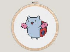Cat Bug - Bravest Warriors Cross Stitch - PATTERN on Etsy, $3.00