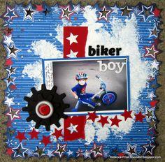 Biker Boy  *Basically Bare* - Scrapbook.com