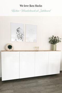 Ikea Hack: Metod Wandschrank als Sideboard. Don't we all love Ikea hacks? Hier seht ihr Metod Küchenschränke als Sideboard - alle Details findet ihr auf dem Blog