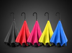 KCASA UB-1 Creative Reverse Double Layer Foldable Umbrella Damp Proof wind Resistant Standing Folding Cheap - NewChic