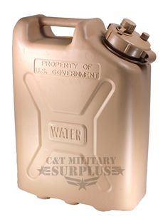 Plastic Jerry Can Military Issue 5 Gallon Water Can Tan Storage Container