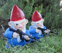 Thanks, Deb. I don't know how I missed this. Everyone should keep armed garden gnomes to guard the perimeter against a zombie invasion.