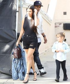 All done! On Friday, Kourtney Kardashian, 37, along with son Mason and daughter Penelope, were spotted leaving an LA cinema