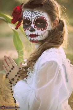 Make-up . Dia de los Muertos Girl - Homemade costumes for girls