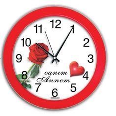 Canım Annem Dekoratif Duvar Saati, Canım Annem Dekoratif Duvar Saati Ürün Bilgisi ;Ürün maddesi : Plastik çerceve, Gerçek cam Ebat : 30 xcm Renk : Kırmızı Mekanizması