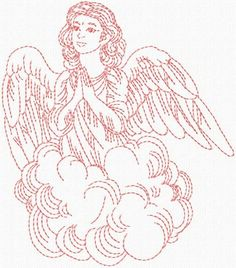 Commercial Embroidery Machine, Machine Embroidery Designs, Angel Wings Clip Art, Angel Coloring Pages, Diy Angels, Christmas Embroidery Patterns, Applique Quilt Patterns, Catholic Kids, Embroidery Transfers