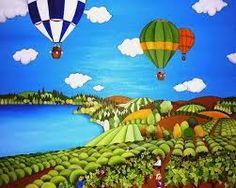 Resultado de imagen de pinturas alegres Henri Rousseau, Basement Painting, Tuscany Landscape, City Folk, Naive Art, World Of Color, Fantasy Landscape, Impressionism, Illustration