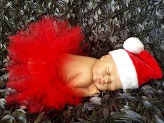 Santa tutu & hat newborn set  ready to ship by mimislullaby