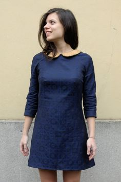 Francoise dress - Tilly and the Buttons by @ladulsatina   Love the collar bead detailing!