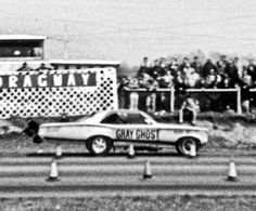 Gray Ghost Pontiac GTO Funny Car  i believe this is arnie beswicks old car