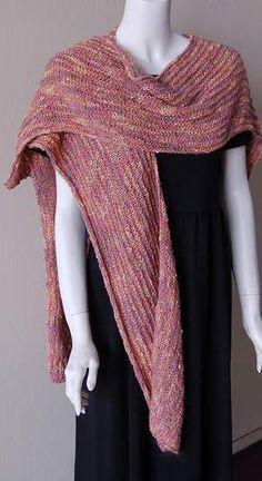 Beginner Ruana Or Stole By Barbara Breiter - Free Knitted Pattern - (knittingonthenet)