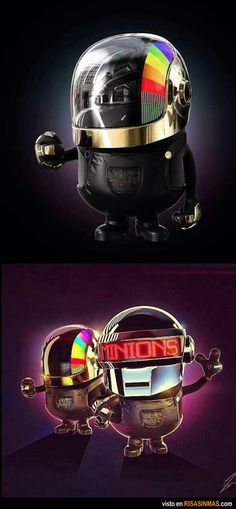 Daft Punk minions! Omg!! My day is complete!!!
