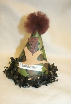 Duck Dynasty Camo Birthday Party Hat!! Too cute...