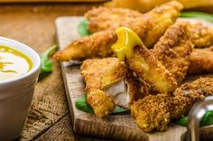 Photo of Warm Oven-Fried Chicken with Three Mustards recipe