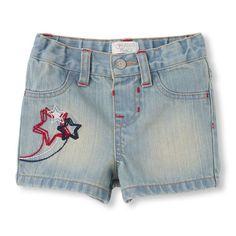 Americana denim shorts