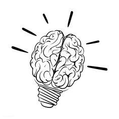 Bulb Brain Glows Framed Art Print by PsychoshadowBulb Brain Glows Framed Art Print by Psychoshadow - Vector Black - Brain Luminous Coffee Mug by PsychoshadowLightbulb Brain Shiny Coffee Mug by Psychoshadow - 11 ozLightbulb Brain Drawing, Brain Art, Arte Bar, Art Sketches, Art Drawings, Light Bulb Drawing, Brain Icon, Brain Tattoo, Free Hand Drawing