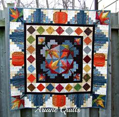 Ariane Quilts: Maple Leaf Medallion quilt is finished!!