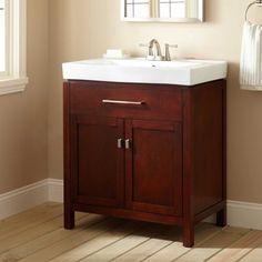 Acacia X Vanity Organic Brown Petite Elegantly Rustic - 30 x 18 bathroom vanity for bathroom decor ideas