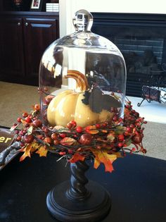 unique Cloche decor ideas on Fall Home Decor, Autumn Home, Holiday Decor, Cloche Decor, Thanksgiving Decorations, Thanksgiving Celebration, Fall Decorations, Fall Arrangements, Autumn Decorating