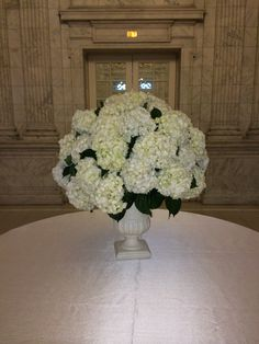 hydrangea arrangement for a special table