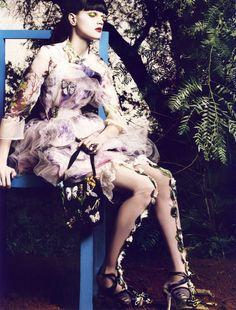 Guinevere Van Seenus by Mikael Jansson for Vogue Paris April 2008.