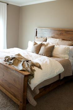 A Place to Dream | Master Bedroom | The Southern trunk Bedding, but add some velvet olive green pillows/throw