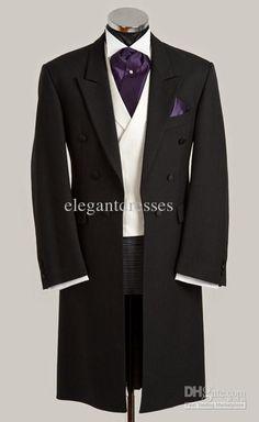 Custom Made 2014 New Groom Tuxedos Best Man Suit Groomsman Bridegroom Suits Jacket+Pants+Tie+Vest 021 Wedding Tailcoat White And Black Prom Suits From Elegantdresses, $92.36  Dhgate.Com
