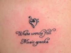 Where words fail Music speaks (bass/treble heart)