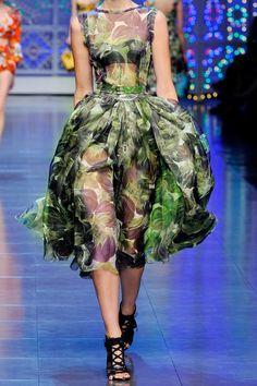 Dolce & Gabbana has the most amazing prints this season. Dolce & Gabbana|Eggplant-print silk-organza dress|NET-A-PORTER.COM