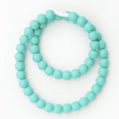 Loving this colour! Necklace - Turquoise. Silicone jewelry by www.bubbagumhq.com. Beads for baby to chew, nursing necklace.