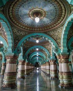 Public Durbar Hall in Mysore Palace, Karnataka, India, google search