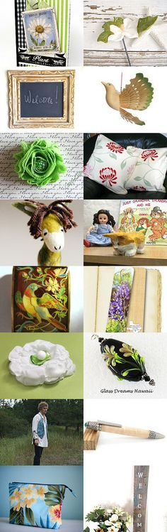 Welcome to my Garden by Marianne on Etsy--Pinned+with+TreasuryPin.com