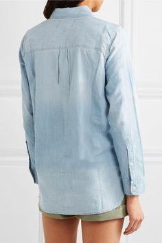 Light-blue denim Button fastenings through front 100% cotton Machine wash Designer wash: Buckley Imported
