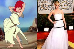 Vestido de Jennifer Lawrence parecia o de Ariel, da Disney – virou meme na internet http://www.bluebus.com.br/vestido-de-jennifer-lawrence-parecia-o-de-ariel-da-disney-virou-meme-na-internet/