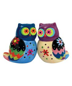 Cozy Owls Salt & Pepper Shakers on #zulily