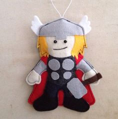 Thor Felt Ornament by HebCrafts on Etsy #christmas #ornament #christmastree…