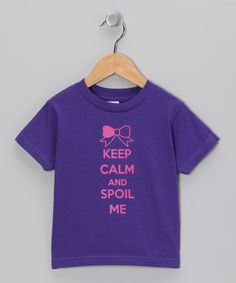 Take a look at this Purple Spoil Me Tee - Toddler & Kids by Donkey Tees on #zulily today!
