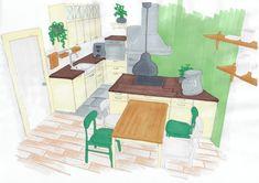 Küche moderner Landhausstil Hilfestellung bei der Wohnungssuche www.lk-design.at Kids Rugs, Post, Diy, Painting, Home Decor, Modern Farmhouse Style, New Construction, Kitchen Contemporary, Floor Layout