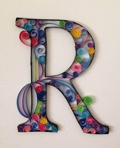 quilling letters - Google Search
