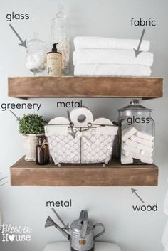 Decorating 101 - Vignette Styling Tips for styling vignettes like a designer using simple decorating rules for mantels, tabletops, shelves, dresser tops, and nightstands. Home Decor Styles, Cheap Home Decor, Home Decor Accessories, Bathroom Accessories, Design Your Home, My New Room, Bathroom Interior Design, Small Bathroom, Bathroom Ideas