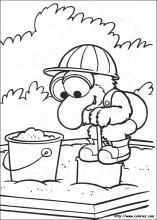 Muppet Babies coloring pages on Coloring-Book.info Gonzo in sandbox