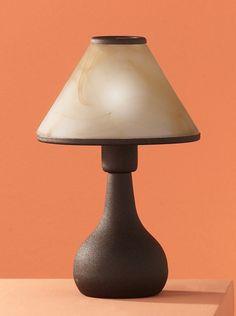 5930 - TRIO - dotykové svietidlo stolové - hrdza-jantárové sklo