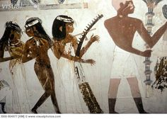 ancient egyptian woman tombs | ... Tomb-Tomb Painting Egyptian Art(- ) Fresco Nakht Tomb, Thebes, Egypt