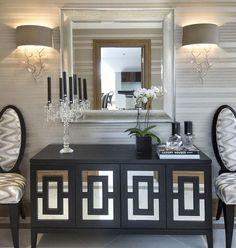 Love this wallpaper!!!   South Shore Decorating Blog: A Compelling Case For White: 40 Gorgeous White Rooms