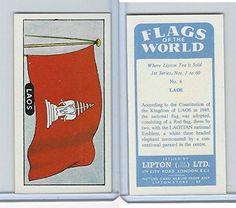 L0-0 Lipton Tea, Flags of the World, 1966, #6 Laos