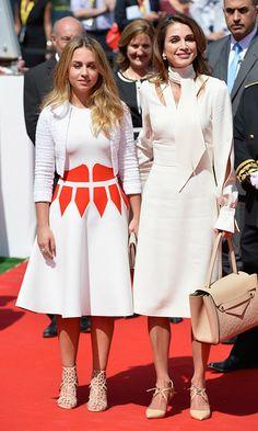 Queen Rania of Jordan and Princess Iman.