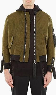 innovative and directional menswear product from the world's most sought-after designers Flight Bomber Jacket, Grosgrain, Menswear, Leather Jacket, Mens Fashion, Zip, Jackets, Clothes, January