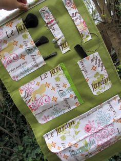 Handmade Spring Green, Pink, Blue, And Orange Beauty Fold Up Case, Travel Case, Cosmetics Case, Prod on Luulla